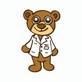 Bear医生孩子的字符设计 免版税库存照片