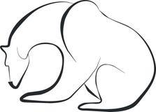 Bear 01. Bear silhouette in black 01 stock illustration