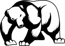 Bear. Vector illustration of a bear black and white Stock Images