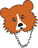 Bear. Young bear (grizzly) - vector, illustration, isolated, cartoon, a toy, the fantastic character Royalty Free Stock Photography