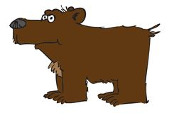 Bear. Cartoon of a grizzly bear Royalty Free Stock Photo