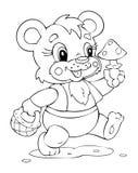 Bear. Illustration of the amusing bear Stock Image