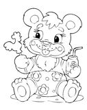 Bear. Illustration of the little bear Royalty Free Stock Photography