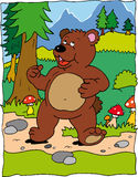 Bear. Walking in the mountains Royalty Free Stock Photo