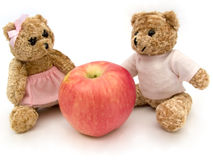 Bear_2. Bear and  apple Royalty Free Stock Image