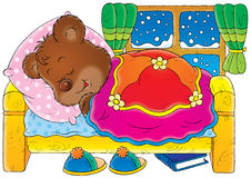 Bear. Isolated clip-art and children's illustration for yours design, postcard, album, cover, scrapbook, etc Royalty Free Stock Images