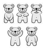 Bear. Set of little bear on a white background stock illustration