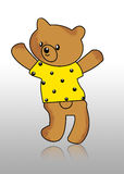 Bear. Teddy bear yellow alone art Royalty Free Stock Photography