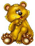 Bear. Animal, flora, fauna, an illustration, figure, a cartoon film, the inhabitant of a wood, a bear, small, cheerful Stock Images