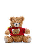 Bear. Teddy bear toy on white background Royalty Free Stock Images