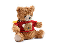 Bear. Teddy bear toy on white background Stock Images