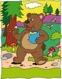 Bear. With jar of honey Royalty Free Stock Photography
