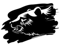 Bear. Black and white image of the bear Royalty Free Stock Photos