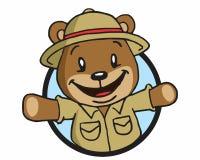 Bear adventurer logo Royalty Free Stock Images