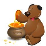 Bear And Honey Stock Photos