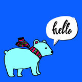 Bear animal vector polar cartoon mammal arctic wild illustration Stock Photography