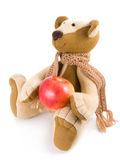 Bear with apple Royalty Free Stock Photos