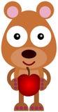 Bear with an apple Stock Photo