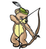 Bear archer isolated Royalty Free Stock Photography
