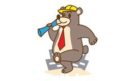 Bear Architect Royalty Free Stock Image