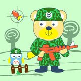 Bear army vector Royalty Free Stock Photography