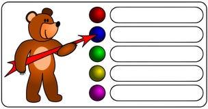 Bear with arrow Stock Photo
