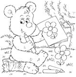 Bear artist Royalty Free Stock Photo