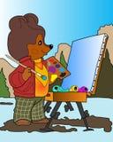Bear artist. Stock Images