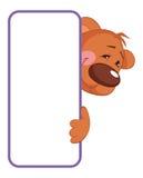 Bear. Baby animal banner Stock Photo