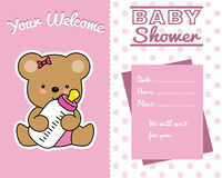 Bear with baby bottle vector illustration