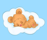 Bear baby children illustration Royalty Free Stock Images