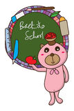 Bear back to school frame Stock Image