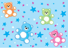 Bear background. Gentle background for children with cute bears Royalty Free Stock Image