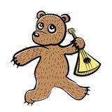 Bear with Balalaika. Handdrawn Bear with Balalaika vector illustration Stock Photos
