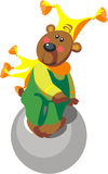 Bear with ball color 11. Vector. Bear with ball color 11 vector illustration