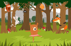 Bear ballet dancer and her friends Royalty Free Stock Image