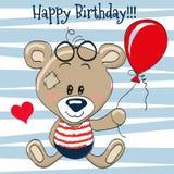 Bear with balloon royalty free illustration