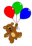 Bear with balloons Stock Image