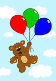 Bear with balloons Stock Photos