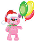 Bear with balloons Royalty Free Stock Photos