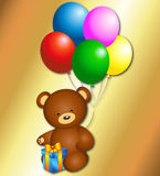 Bear with balloons Stock Images
