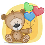 Bear with baloons vector illustration