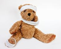 Bear with Bandages Stock Photography