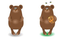 Bear with a barrel of honey Stock Photography