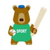 Bear baseball Royalty Free Stock Photo