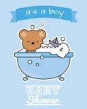 Bear in the bath Royalty Free Stock Photos