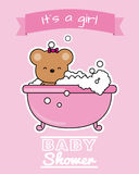 Bear in the bath Royalty Free Stock Photo