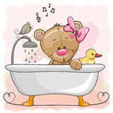 Bear in the bathroom Royalty Free Stock Photography
