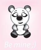 Bear be mine. Nice cart with funy bear Royalty Free Stock Image