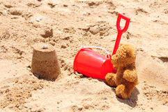 Bear at the beach Royalty Free Stock Images